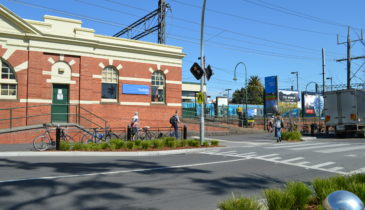 Caulfield Train Station facade
