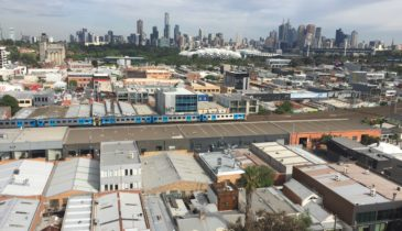 External image of the Cremorne area looking to the Melbourne skyline