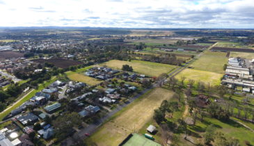 Aerial image of the Merrimu Precinct