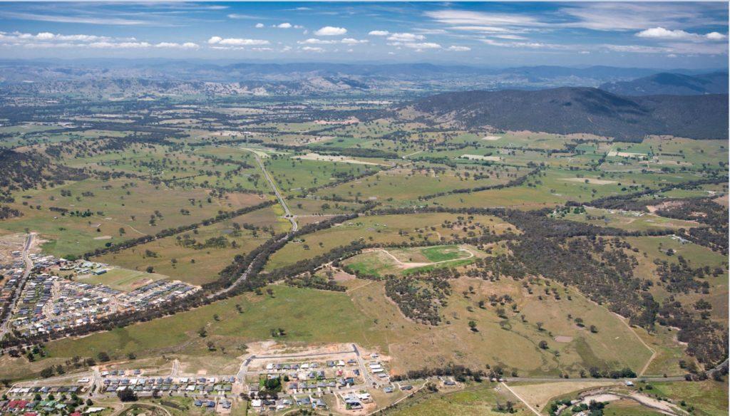 Aerial view of the Leneva Baranduda Precinct Structure Plan