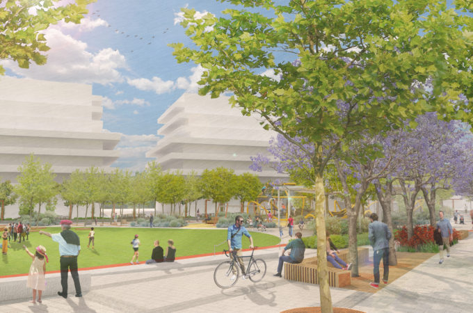 An artist impression of public space