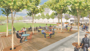 An artist impression of the East Village site