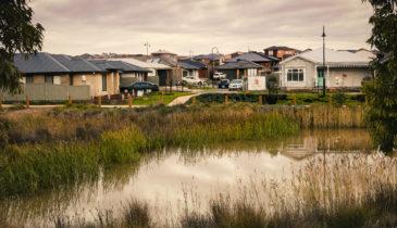External shot of the Stonehill Housing Wetlands