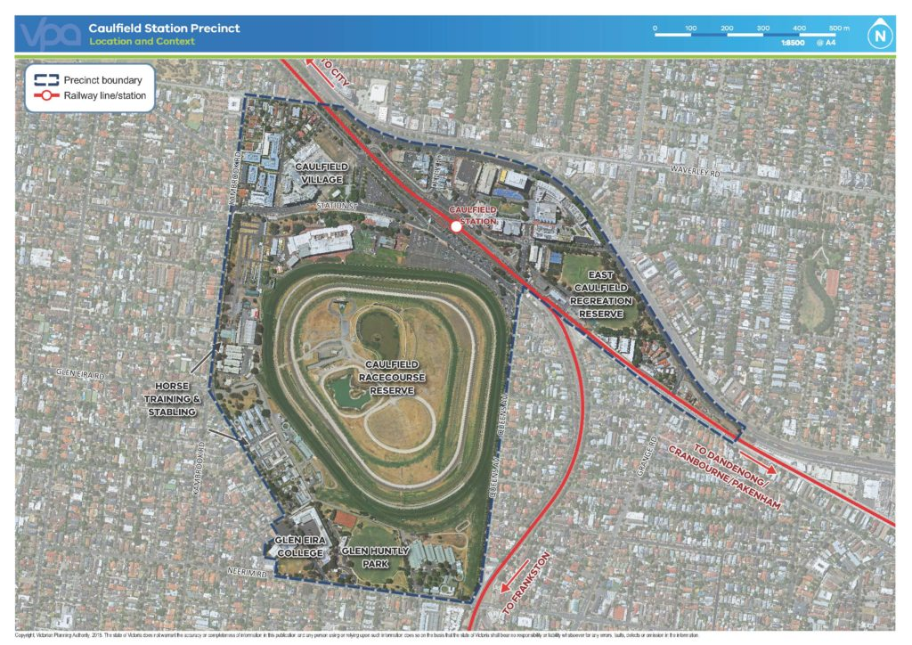 Caulfield Station Precinct Location and Context map