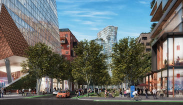 An artist impression of the proposed transformation of Arden Precinct