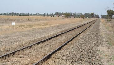 Landscape shot of the Ballarat railway line