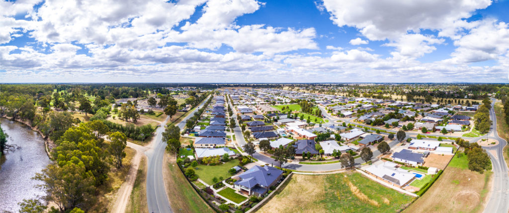 Greater-Shepparton-Aerial-Drone-Boulevard-Housing-Area