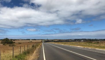 Landscape shot of the road to Warrnambool