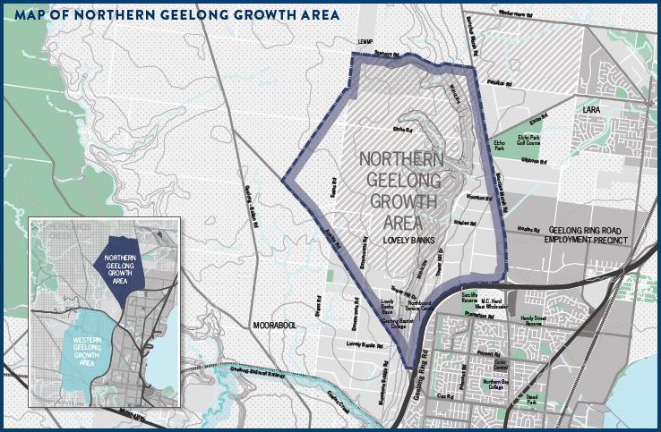 Map of Northern Geelong Growth Area