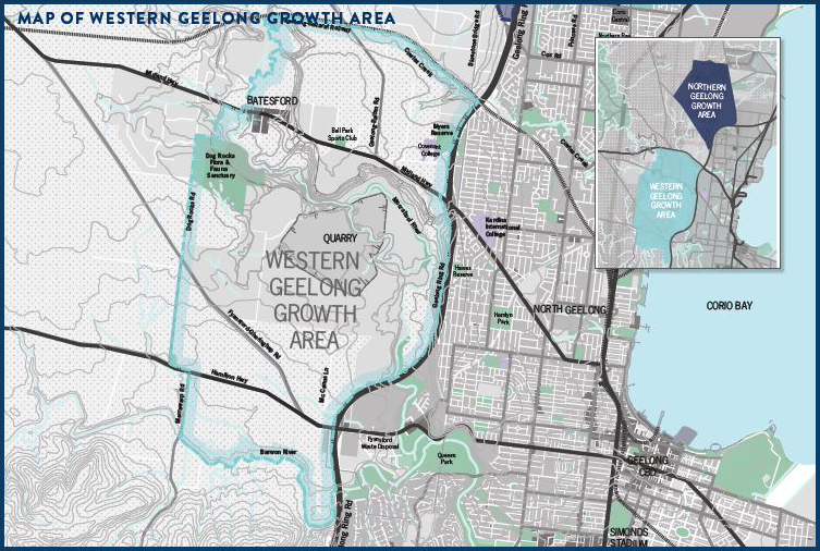 Map of Western Geelong Growth Area