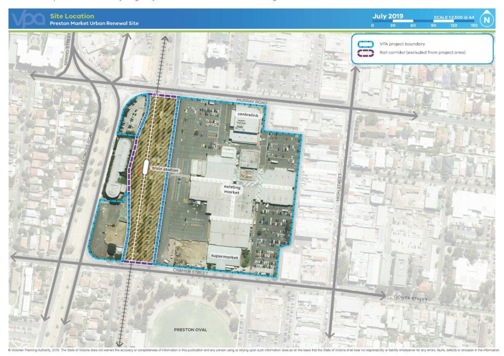 Site Location - Preston Market Urban Renewal Site