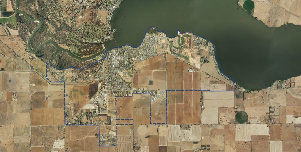 Aerial of Yarrawonga Framework Plan area
