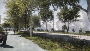 Artist render of streetscape thumbnail