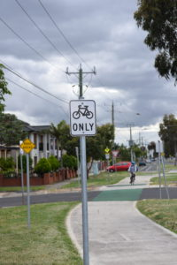 Bicycle Path In Braybrook