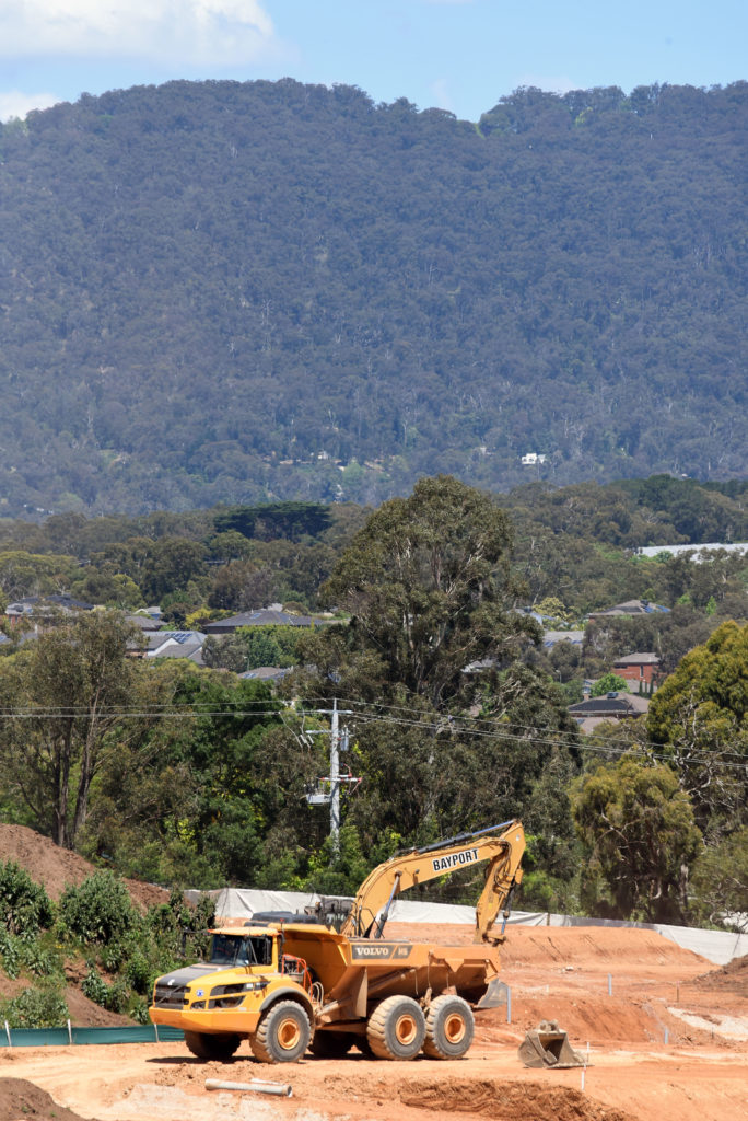 Lilydale Quarry Site With Hills In the Background Nov2020