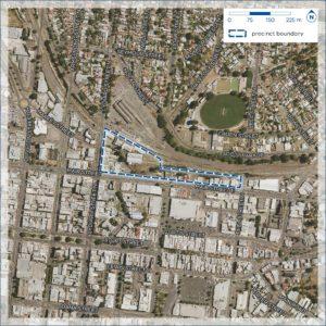 Precinct boundary of the Ballarat Station