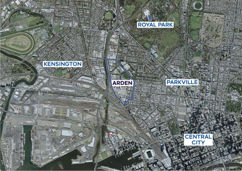 To show the Arden Precinct in the context of surrounding areas.